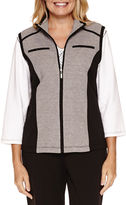 Alfred Dunner Casual Friday French Terry Vest