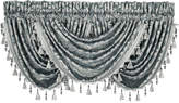 "J Queen New York Sicily Teal 33"" x 49"" Waterfall Window Valance"