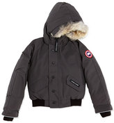Canada Goose Rundle Bomber w/Detachable Fur Trim, Graphite, Youth XS-XL