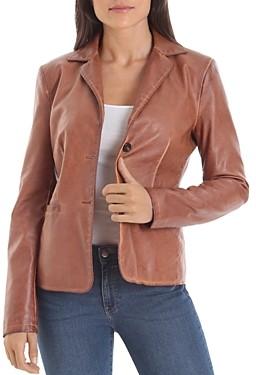 Bagatelle Faux-Leather Blazer