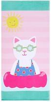 Pottery Barn Kids Classic Kitty Mini Beach Towel