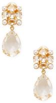 Bounkit Women's Convertible Quartz & Pearl Drop Earrings