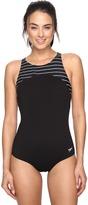 Speedo Stripe High Neck One-Piece Women's Swimsuits One Piece