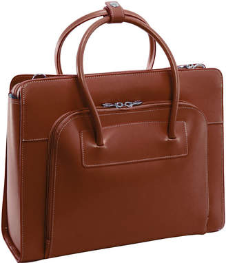 "McKlein McKleinUSA Lake Forest 15.4"" Leather Laptop Briefcase w/ Removable Sleeve"