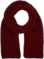 Barneys New York MEN'S RIB-KNIT WOOL-CASHMERE SCARF