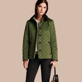Burberry Quilted Jacket with Shearling Collar