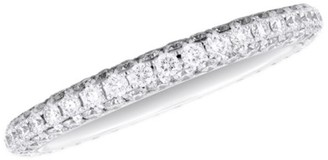De Beers Darling 18K White Gold & Diamond Half Pave Eternity Band