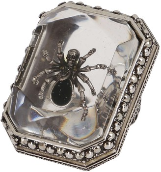 Alexander McQueen Beetle Embellished Ring