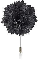 Lanvin Men's Striped Carnation Tiepin-BLACK