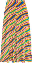 Missoni Printed stretch-silk georgette maxi skirt
