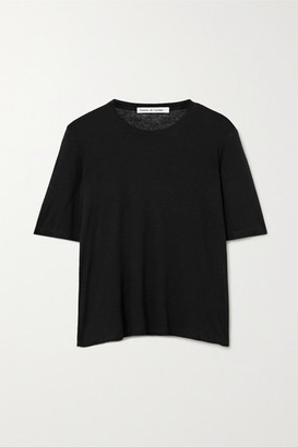 Frances de Lourdes - Martin Slub Modal And Silk-blend T-shirt - Black