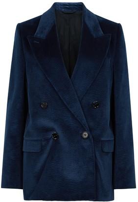 Acne Studios Janny navy double-breasted corduroy blazer
