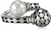 "Honora Times Square"" Freshwater Cultured Pearl Bypass Ring, Size 7"