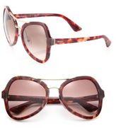 Prada 55MM Irregular Sunglasses