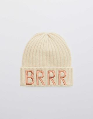 aerie OFFLINE Ribbed Graphic Beanie
