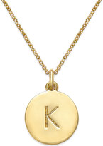 "Kate Spade 17"" 12k Gold-Plated Initials Pendant Necklace"