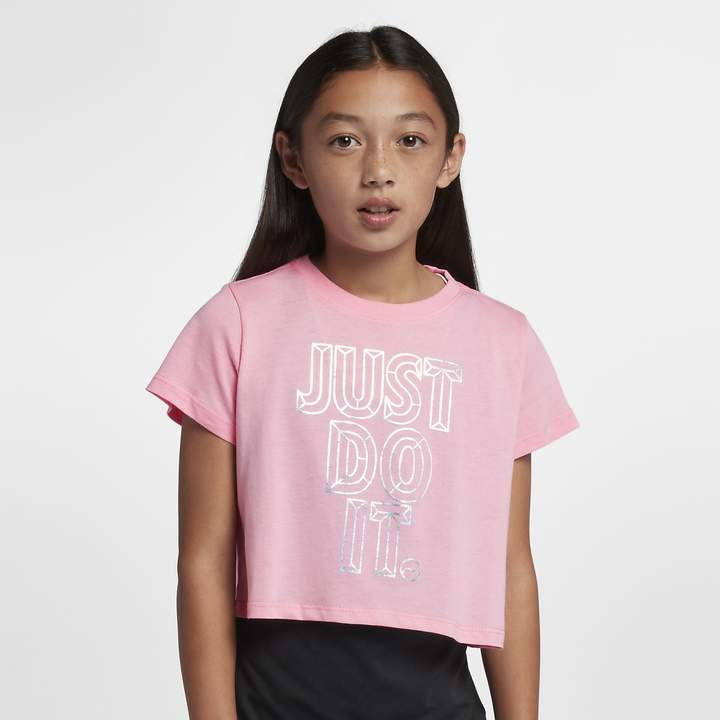 66ea34bb Pink Nike Shirt For Girls - ShopStyle