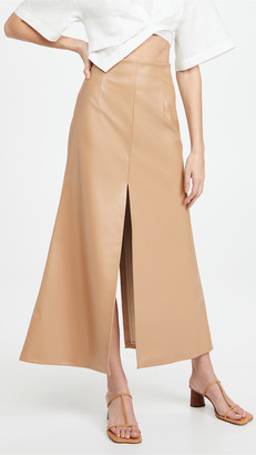 A.W.A.K.E. Mode Front Back Slit Maxi Skirt