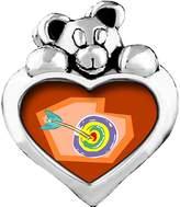 GiftJewelryShop arrow target cartoon Emerald Green Crystal May Birthstone I Love You Heart Care Bear Charm Bracelets