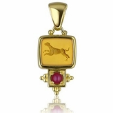Tagliamonte Classics Collection - 18K Gold and Ruby Pendant