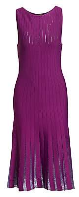 Zac Posen Women's Beaded Detail Sleeveless Knit Dress