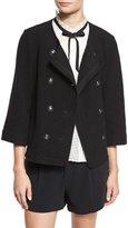 Joie Leija 3/4-Sleeve Double-Breasted Jacket