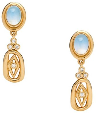 Temple St. Clair Nature Deconstructed River 18K Yellow Gold & Diamond Drop Earrings