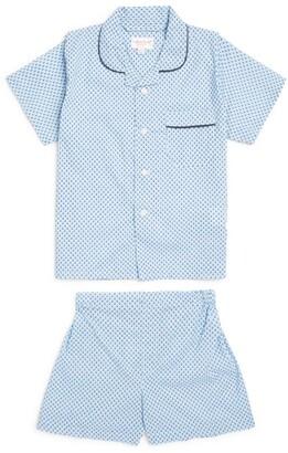 Derek Rose Kids Triangle Print Pyjama Set (3-16 Years)