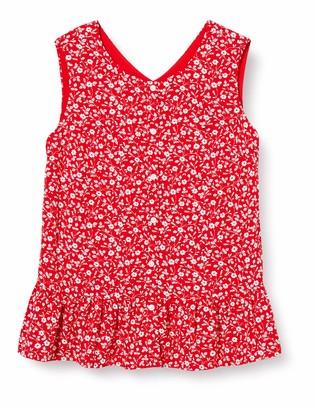 Tommy Hilfiger Girl's Floral TOP Slvls Sports Shirt