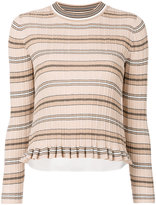 Derek Lam 10 Crosby striped knitted top - women - Cotton - S