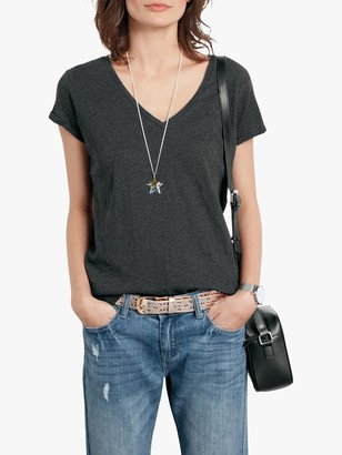 Hush Cotton Slub V-Neck T-Shirt