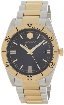 Movado Men's Sport Series Steel PVD Watch, 41mm