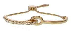 Christian Siriano New York Gold Tone Slider Bar Bracelets with Crystal Stones