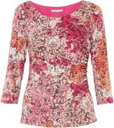 Gina Bacconi Pink Lace Effect Jersey Top