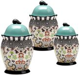 Tracy Porter Rose Boheme 3-pc. Ceramic Canister Set