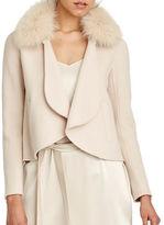 Halston Heritage Detachable Fur Collar Jacket