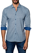 Jared Lang Barrel Cuffed Printed Sportshirt