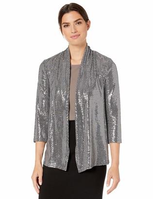 Kasper Women's 3/4 Metallic Cardigan
