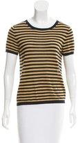 A.P.C. Linen-Blend Short Sleeve Knit Top
