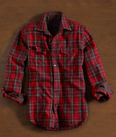 Wool-Blend Plaid Flannel Shirt