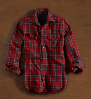 Martin + Osa Wool-Blend Plaid Flannel Shirt