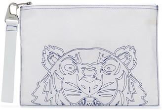 Kenzo Zipped Tiger Clutch Bag