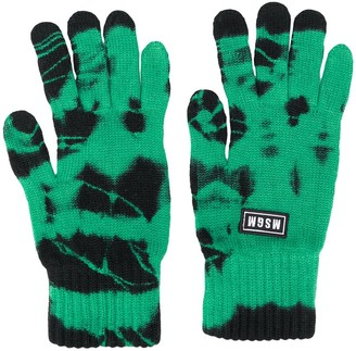 MSGM Tie-Dye Knitted Gloves