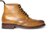 Grenson Sharp Wingtip Leather Brogue Boots
