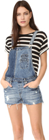 Blank Mixed Denim Overalls
