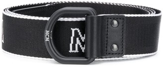 MCM Embroidered Logo Belt