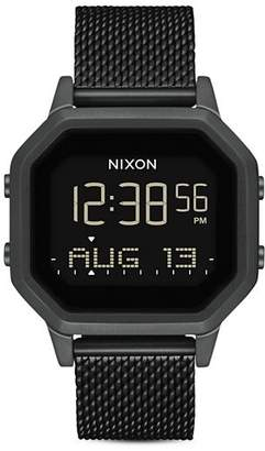 Nixon Siren Milanese All-Black Mesh Bracelet Watch, 36mm