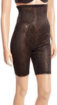 Joan Vass Black Power Mesh High-Waist Slimmer Shorts - Plus Too