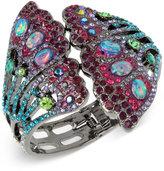 Betsey Johnson Hematite-Tone Stone and Pavé Butterfly Wing Cuff Bracelet