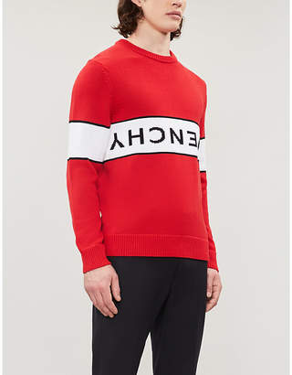 Givenchy Logo-intarsia cotton-knit jumper